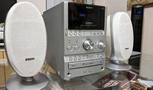 Sony HCD-SPZ50 CD Player AM FM Radio Cassette Tape Recorder 3 Disc Changer Hi Fi