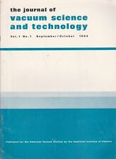 The Journal Of Vacuum Science And Technology-First Issue-October 1964