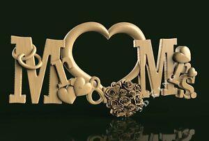 3D STL Model Love Heart Wedding for CNC Route 3D Printer Engraver Carving Aspire