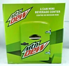 Mtn Dew 6-Can Cooler Mini Fridge *Car Adapter & Home Outlet Cord Included* NEW