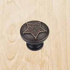 """Cabinet Hardware Star Knobs kd19 Brushed Oil Rubbed Bronze 1-3/8"""""""
