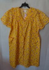 Women's Vintage Yellow Floral Lati Fashion Duster Nightgown Size 1X