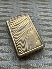 ZIPPO Cigarette Lighter Gold Plated Engraved used