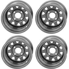 4 ATV/UTV Wheels Set 12in ITP Delta Steel Silver 4/110 5+2 IRS