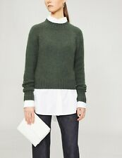 Vince Shrunken Cashmere Sweater in Olive - Size XS #S0019