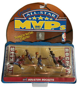 New Galoob's All Star Houston Rockets MVPs 1997 Edition Posable Action Figures