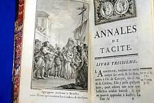 ANNALES TIBERE TACITE,Gravelot-de la Bléterie-1768-RELIE