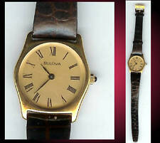 Vintage Women's Bulova Watch with Gold Tone Bezel NOS