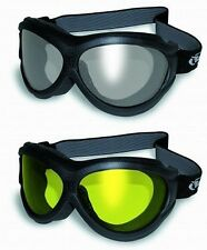 2 Anti-Fog Motorcycle Goggles-Fit Over RX Prescription Glasses-SMOKED & YELLOW b
