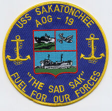 USS Sakatonchee AOG 19 - The Sad Sak, Fuel for our Forces BC Patch Cat No B839