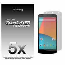 5x LG NEXUS 5 GOOGLE DISPLAY SCHUTZFOLIE KLAR FOLIE SCREEN PROTECTOR SCHUTZ