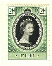 FIJI 1953 CORONATION BLOCK OF 4 MNH