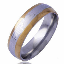 Tibet style Yellow white Gold filled  Men's Band Promise Mood Ring Size 10