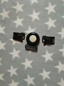 Silver Cross Pram Buckle in Black - fits Linear, Surf, Wayfarer, 3D, Sleepover