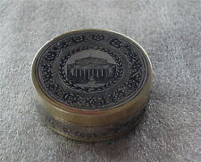 "RUSSIAN 875 STERLING SILVER GILDED NIELLO RING, PILL, SNUFF BOX, ""BOLSHOI"""
