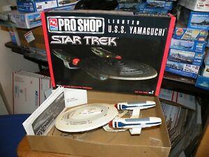 BUILT AMT Pro Shop STAR TREK Lighted USS YAMAGUCHI 30038 model parts or repair