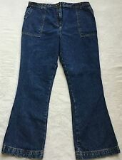 Womens Motherhood Maternity Cotton Blue Denim Jeans Size L Large