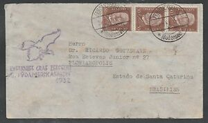 1932 GRAF ZEPPELIN cover - GERMANY to FLORIANOPOLIS, BRAZIL