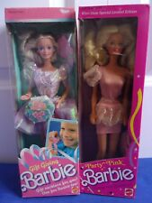 Gift Giving Barbie 1988 & Party Pink Winn Dixie 1989 Good Cond. NRFB Lot-2 Dolls