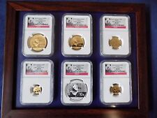 2014 CHINA 5 GOLD PANDA 1 SILVER  6 COINS SET NGC MS 70 EARLY RELEASE