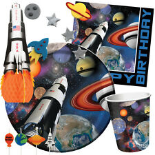 Space Blast Fiesta Cumpleaños Gama - Cohete Barco PLANETAS Vajilla & Decoración