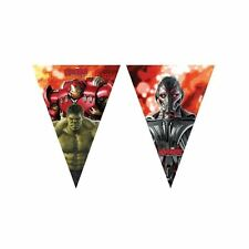 2 Metre marvel avengers Age Of Ultron Bunting Banner Birthday Party Decoration P