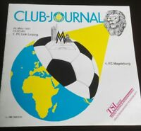 Programm 1.FC Lok Leipzig 1.FC Magdeburg 1991 DDR Oberliga FCM FCL Stadionheft