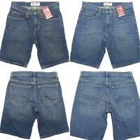 Arizona Men Jeans Shorts Classic Fit Hits at Knee Dark or Light Stone