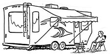 Unmounted Rubber Stamps Set, Camping, Camper, RV Park, Campers, Humorous Stamps