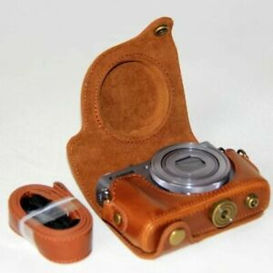 PU Leather Camera Case Bag For Canon powershot G9X Markii G9X2 G9XII