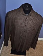Men's Ermenegildo Zenga Brown Long Sleeve Dress Shirt Size Small