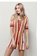 Free People dress size L resort Sunset Combo Crochet short sleeve boho NWT