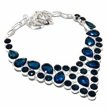 Iolite Gemstone Ethnic Jewelry Handmade Necklace 90 Gms RBN-1546