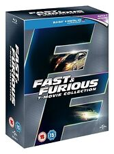 Fast & Furious: 7-Movie Collection [Blu-ray Box Set, Region Free, 7-Disc] NEW