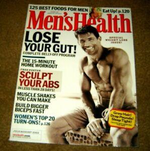 Men's Health Magazine LOSE YOUR GUT July / August 2002