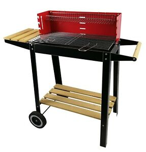 Rectangular BBQ Barbecue Steel Charcoal Grill Outdoor Patio Garden Cooking