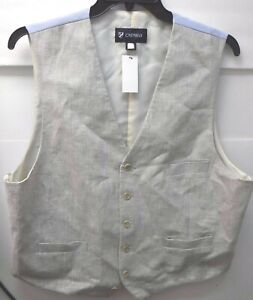 Cremieux Size Large XL Extra Large Beige Dress Vest New Mens