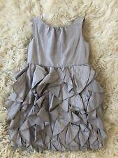 4900aa48fd JCrew Crewcuts $188 Girls Silk Lyla Dress 6 wedding Aged Driftwood Grey  43902