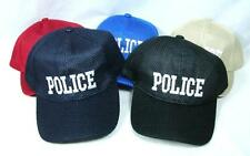 Wholesale Lot Of 12 Police Hats Mesh Baseball Car Law Enforcement Cop Adjustable