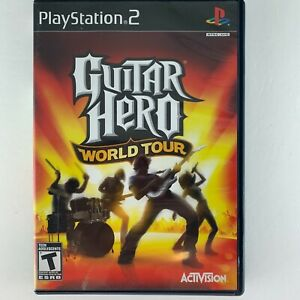 Guitar Hero: World Tour (Sony PlayStation 2, 2008) with manual