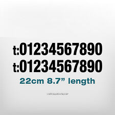 2x PHONE NUMBER Bike,Car,Van,Shop,Window,Wall,Laptop Vinyl Decal Sign Sticker
