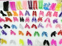 Doll Shoes High Heels Sandals Boots Mix Style For Barbie Doll Colorful 60 Pair