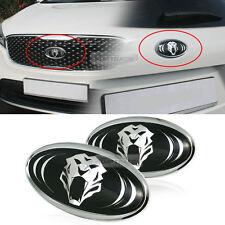 Tigris 3D effect Logo Grille Trunk Emblem Badge 2Pcs For KIA 2015-16 Sorento UM