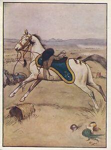 Cecil Aldin Antique Art Print-Color-Black Beauty-Horses-1930-Slaughter Ground