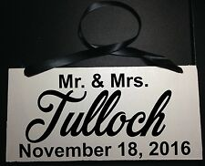 Ring Bearer Sign Mr. and Mrs. (your last name) Custom Wedding  Sign