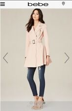 BEBE Fit and Flare Rain Coat/Trench Coat
