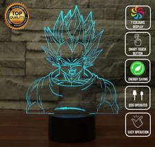 Vegeta DragonBall Z Goku Saiyan 3D Night Light  LED 7 Colour Touch Desk Lamp