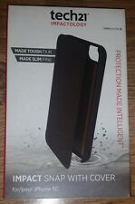 Genuine Tech21 Impact snap with cover Leather case for iPhone 5c T21-3535