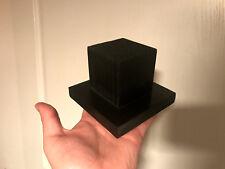 Decoration Cabinet de curiosités Taxidermie Socle en bois carré noir 12x12 cm