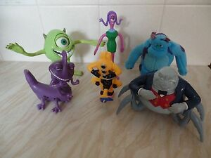 "McDonald's Monsters inc bundle of 6 Disney Pixar 4 to 8"" fully working VGC"